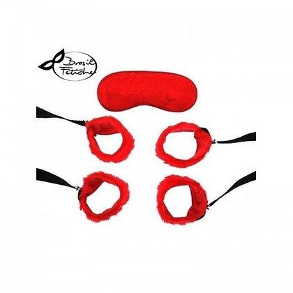 Kit - Bondage 4 Amarras Vermelha