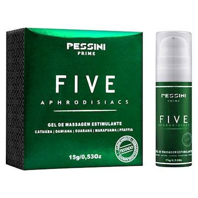 FIVE APHRODISIACS GEL PARA MASSAGEM ESTIMULANTE 15G PESSINI
