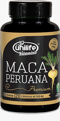 Maca Peruana Premium Pura 550MG 120 Caps Unilife