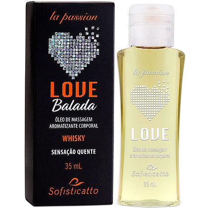 LOVE BALADA GÉL HOT COMESTÍVEL 35ML WHISKY