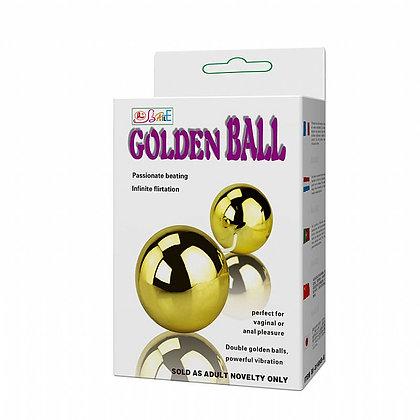 Golden Duo Ball - Bolas Duplas com Vibrador para Clitóris e Estímulo Anal - Bail