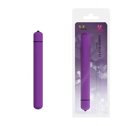Cápsula Vibratória Alongada Power Bullet Clássico 14 cm