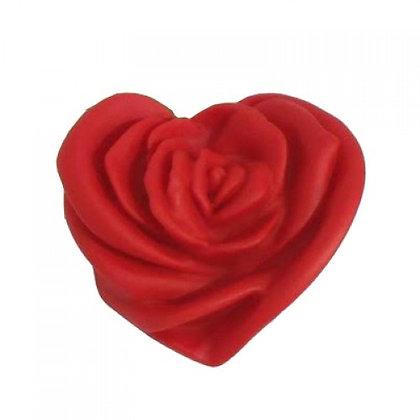 Vela Rosa Vermelha com Aroma Dama da Noite