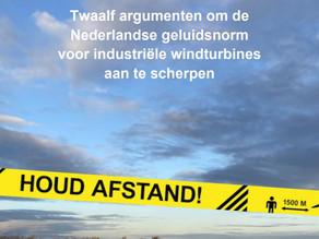 Windalarm: 12 argumenten om de Nederlandse geluidsnorm voor industriële windturbines aan te scherpen