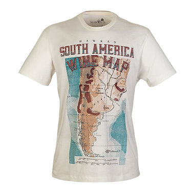 Camiseta Wine Map South America Hawke's