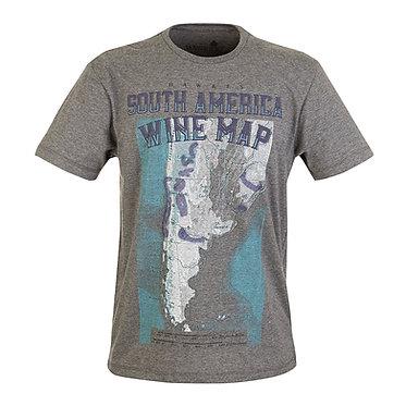 Camiseta Wine Map South America Hawke's