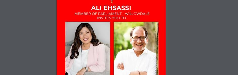 Town Hall with Minister Ng and MP Ehsassi