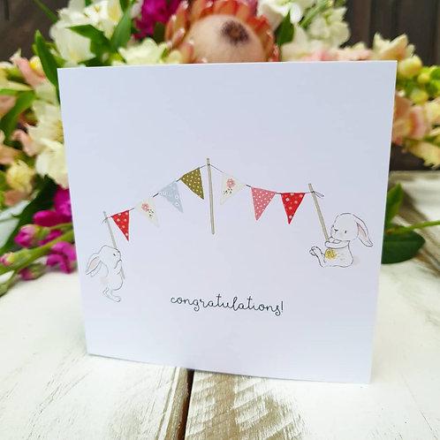 Congratulations Bunny Card