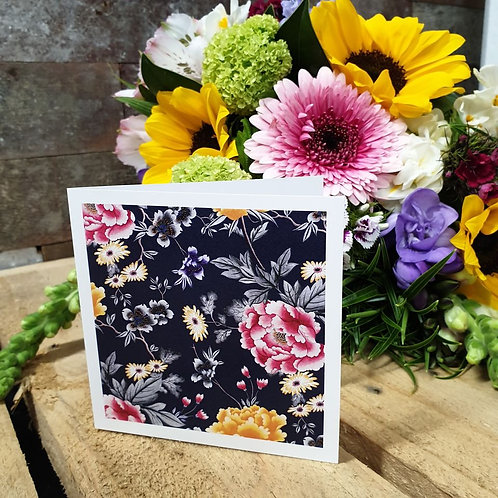 Floral Navy Card