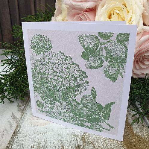 Vintage Blooms Card- Sage Green