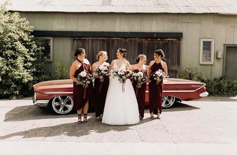Blush and Burgundy Wedding