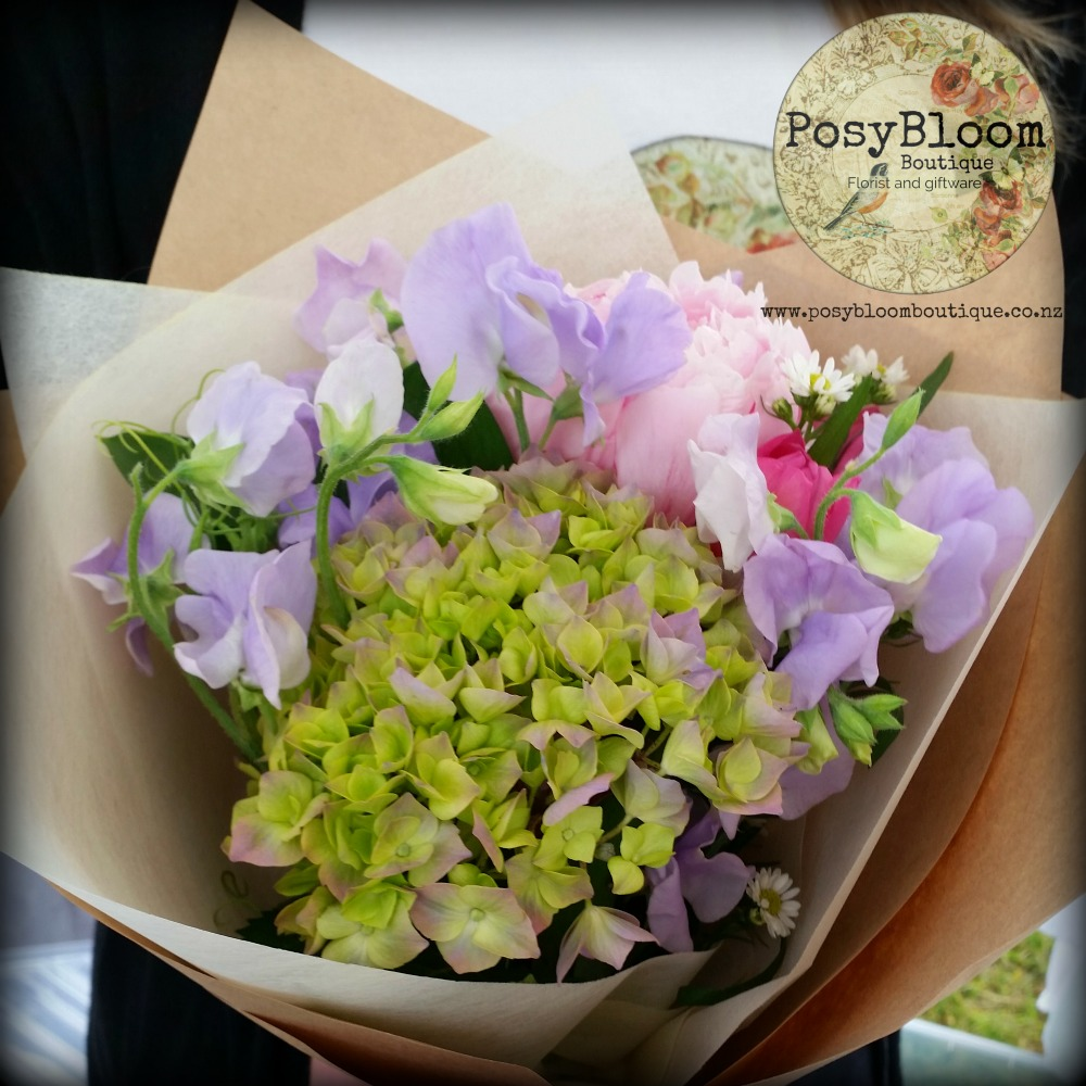 sweetpea posy posybloom boutique nz