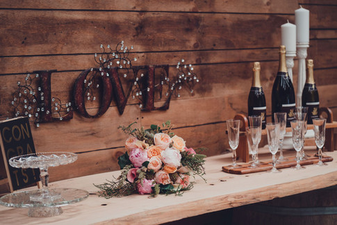 """Vendors: * Perfect little weddings Flowers: Posybloom Makeup: KS Beauty Studio Venue: Atwood Gardens   Photography: """"Photography by Andie   Catering: Bless catering LTD * Palliser Estate Wines Cake: Chocolate shed cake Design Dress: Sophie Voon Bridal  Styling: Love on location   * Serene nz * Simplicity events"""