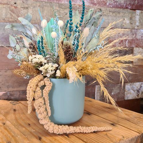 """Sea Breeze"" Dried Flower Arrangement"