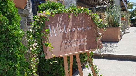 Wedding Guest Welcome Sign