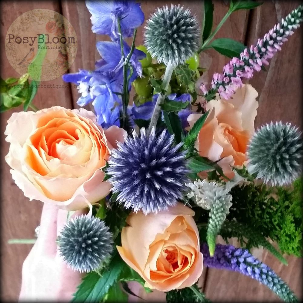 Echinops Posy - Posybloom Boutique