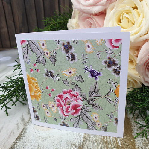 Pastel Green Floral Card