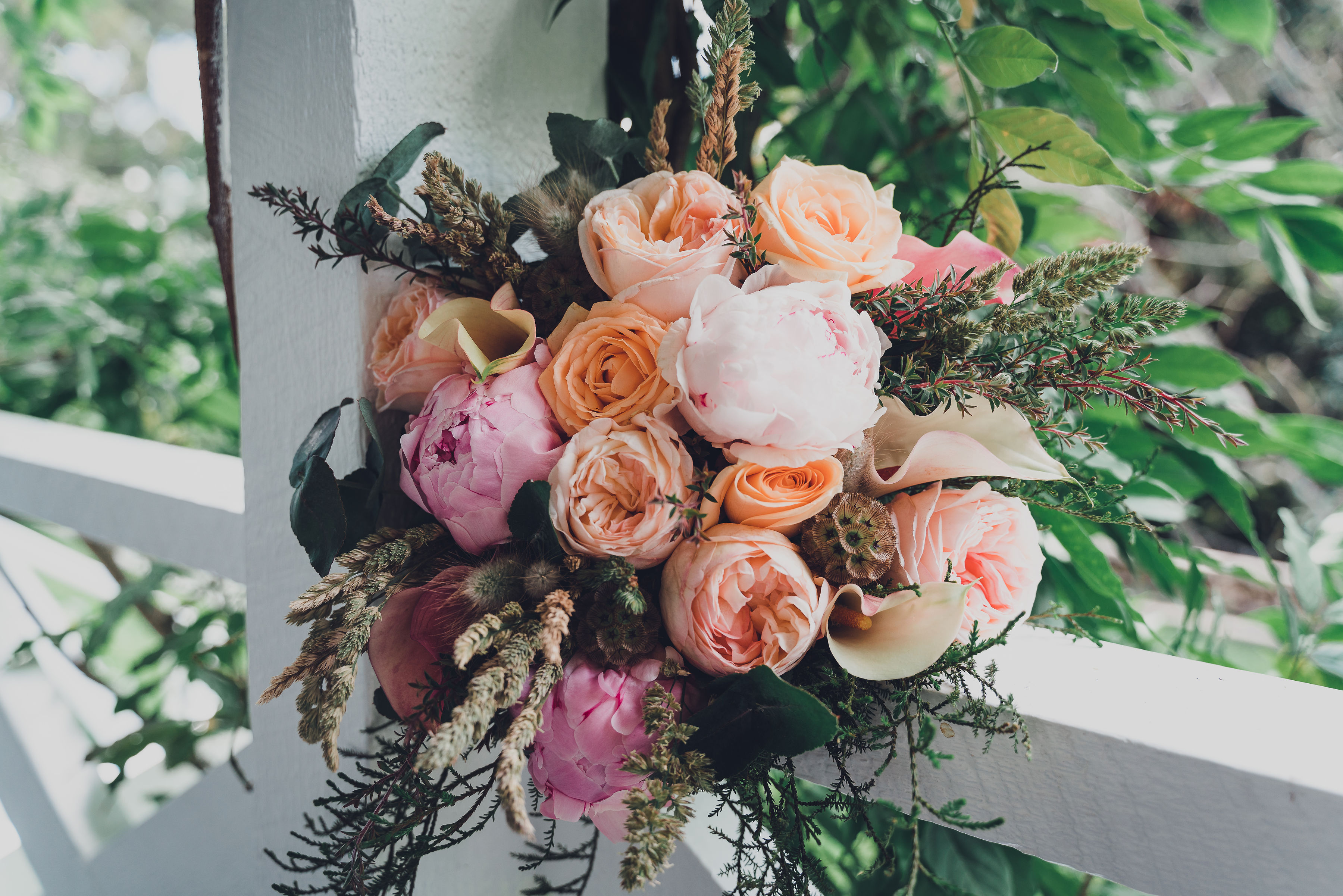 Peach and Blush Bridal Bouquet