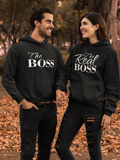 Athllete Couple HoodiesThe Boss The Real Boos