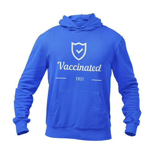 Athllete Vaccinated Shield Sweatshirt Hoodie Unisex for Vaccinated Girls Boys