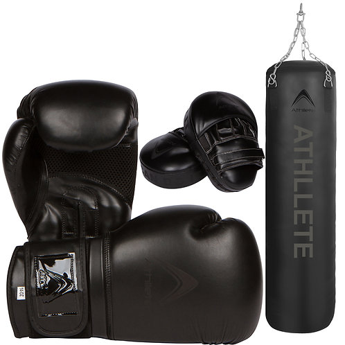 Athllete Boxing Training Set, Boxing Gloves , Mitts and Punching Bag
