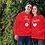 Thumbnail: Athllete Couple Hoodies King Queen Leave & Heart