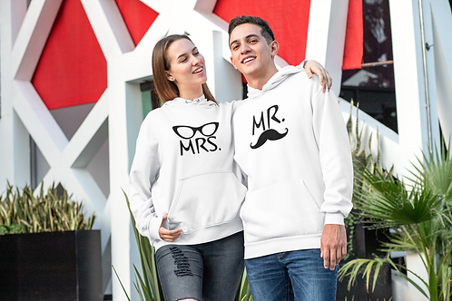 Athllete Couple Hoodies Mr & Mrs CAT