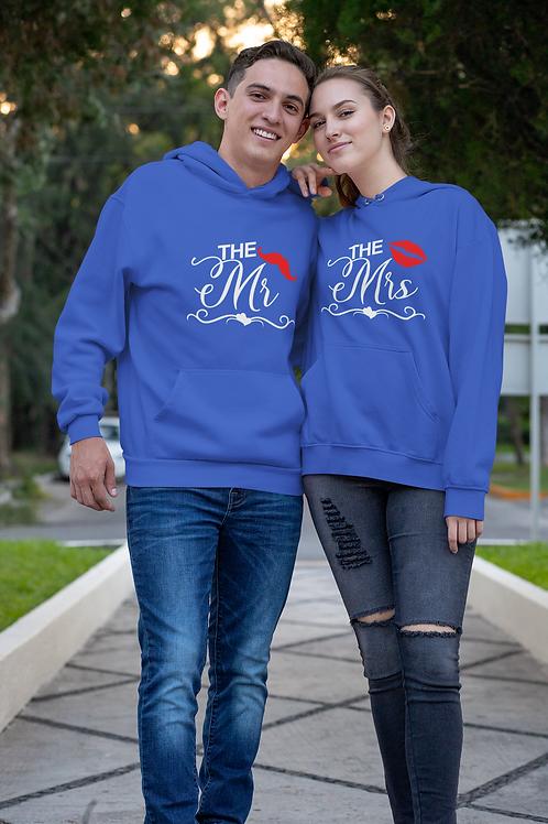 Athllete Couple Hoodies Mr & Mrs