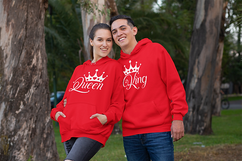 Athllete Couple Hoodies King Queen Crown