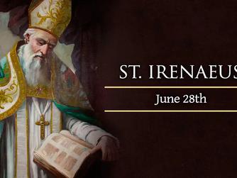 FOCUS ON THE SAINTS: Saint Irenaeus of Lyons. Feast Day – 28th June 2021