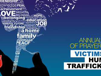 SATURDAY 8TH FEBRUARY: INTERNATIONAL DAY OF PRAYER AND AWARENESS AGAINST HUMAN TRAFFICKING