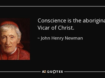 TOASTING CONSCIENCE FIRST - THE POPE AND ST JOHN HENRY NEWMAN