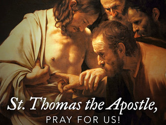 MASS READINGS FOR FRIDAY 3RD JULY 2020 - FEAST OF ST THOMAS THE APOSTLE