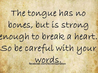 DEALING WITH  A HARSH WORD