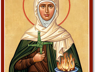 FEAST DAY OF ST BRIGID – ABBESS AND SECONDARY PATRON OF IRELAND