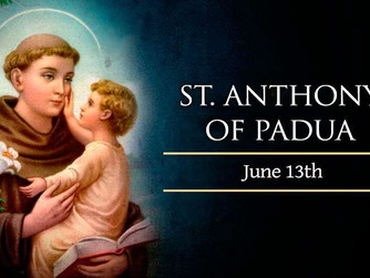 MASS READINGS FOR SATURDAY 13TH JUNE 2020 - FEAST DAY OF ST ANTHONY