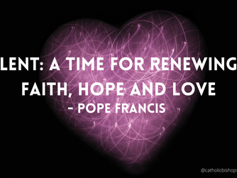 POPE FRANCIS' MESSAGE FOR LENT 2021