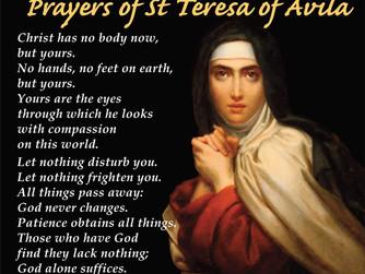 FEAST DAY OF ST TERESA OF AVILA - FRIDAY 15TH OCTOBER 2021