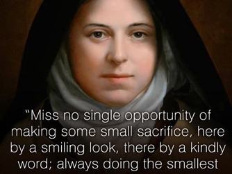 FEAST DAY OF ST THERESE OF LISIEUX