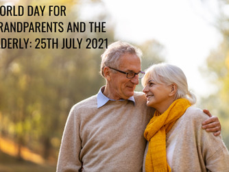 25TH JULY - GRANDPARENTS DAY AND DAY OF THE ELDERLY
