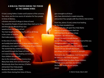 PRAYER FOR THE VICTIMS OF THE CORONA VIRUS OUTBREAK