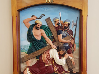STATIONS OF THE CROSS - III JESUS FALLS FOR THE FIRST TIME