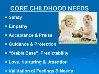 CHILDHOOD NEEDS, ADULT EXPECTATIONS