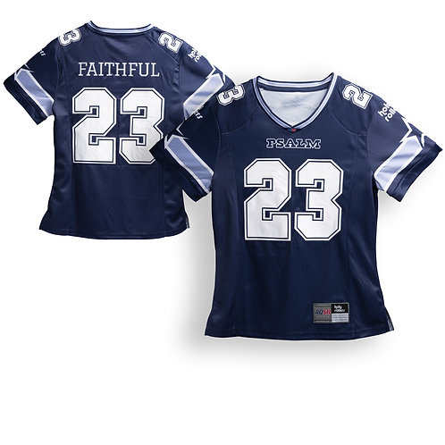 Men's Navy Psalm 23 Football Jersey