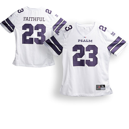 Men's White Psalm 23 Football Jersey