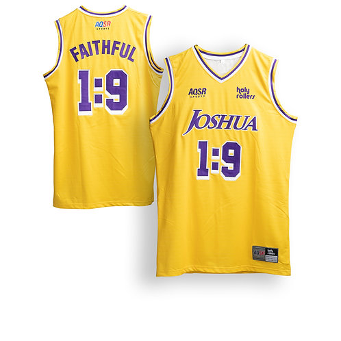 Women's Gold Joshua 1:9 Basketball Jersey