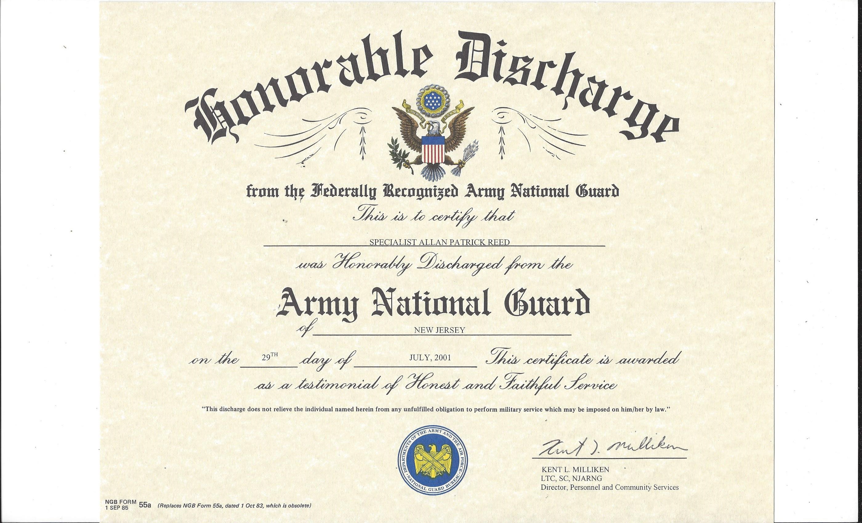 National Guard Discharge