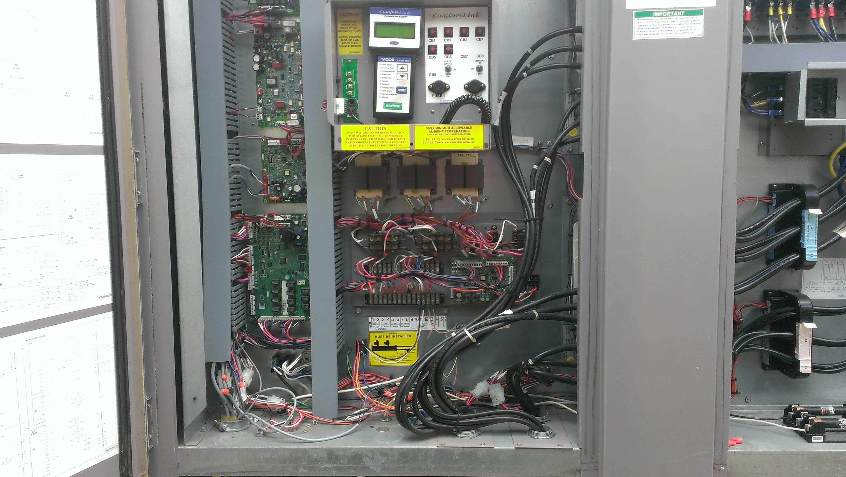Chiller HVAC controls