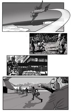Ilustraciones para video institucional de aviones de seguridad.