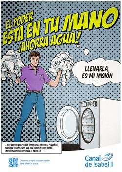 Superman también lava la ropa.